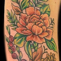 Flowers Tattoo - Lauren Miller