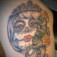Day of the Dead Tattoo - Lauren Miller