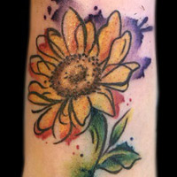 Sun Flower Tattoo - Lauren Miller